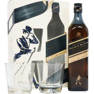 Jhonnie Walker Double Black c/2 vasos