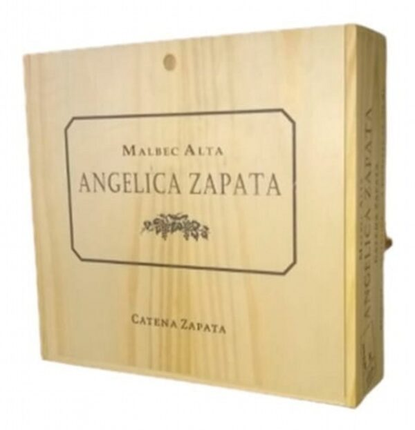 Angelica Malbec Caja Madera x 4