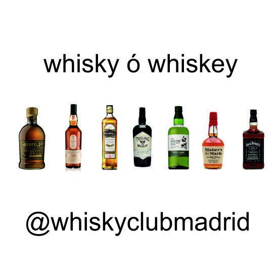 ¿ Whisky ó whiskey ?